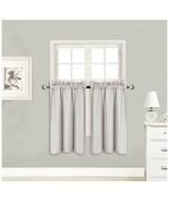 "2 Panels Small Window Treatment Curtain Blackout Drape 28"" X 36"" Silver/... - $11.48"