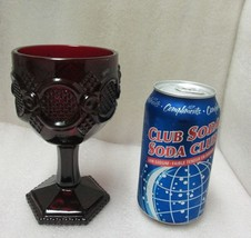 VINTAGE AVON RUBY RED GLASS 1878 CAPE COD COLLECTION WATER GOBLET Discon... - $9.89