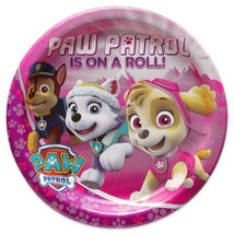 Paw Patrol Girls Is On A Roll Round Birthday Party Lunch Plates 8 Per Package - $3.85