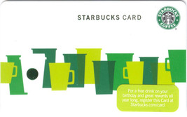 Starbucks 2010 Green Cups Collectible Gift Card New No Value - $1.99