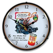 Shell Oil Artzybasheff 1 Lighted Wall Clock 14 x 14 Inches - $129.95