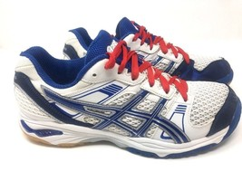 Asics Gel-1140v Athletic Womens Volleyball Shoes Sneakers Blue White Siz... - $22.99