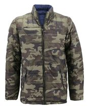 Men's Reversible Camo Lightweight Insulated Quilted Packable Puffer Zip Jacket image 13