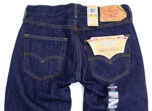 NEW NWT LEVI'S 501 MEN'S ORIGINAL FIT STRAIGHT LEG JEANS BUTTON FLY 501-0115