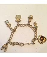 Kids Vintage Charm Bracelet Dutch Cloggs Flowers Acorn Water Girl Windmill  - $29.69
