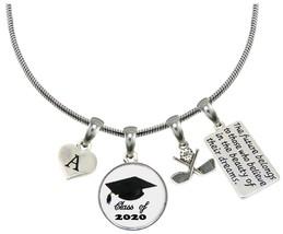 Custom Class of 2020 Graduation Golf Golfer Necklace Gift Choose Initial... - $17.99