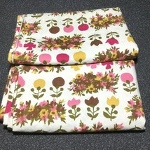 Vintage Curtains 2 Panels Rod Pocket Homemade 35W x 42L Cutter Fabric Cr... - $24.24