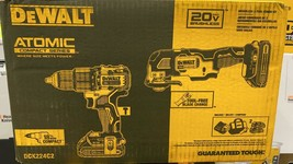 Hammer Drill & MultiTool DeWalt Atomic Compact Series 20v Brushless 2-Tool Combo - $217.80