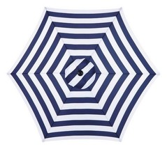 Living Accents UM90BKOBD18/WT 9 ft. Navy  White Market Umbrella - $75.99