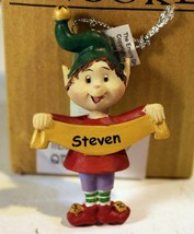 CHRISTMAS ORNAMENTS - WHOLESALE- RUSS BERRIE-#13779- 'STEVEN'- 6  PCS- N... - $5.83