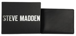 NEW STEVE MADDEN MEN'S PREMIUM LEATHER ID BIFOLD WALLET BLACK  N80003/08