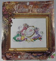 "Mice Stitching I Love (Heart) Cross Stitch 5268 11 x 14"" Designs for the... - $12.35"