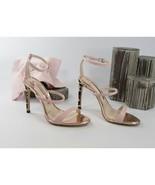 Sophia Webster Rosalind Pink Leather Leopard Calf Hair Heels Size 39.5 9... - $370.76
