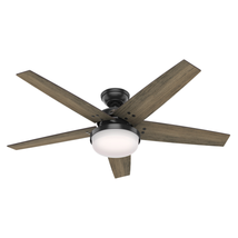 "Matte Black 52"" Ceiling Fan LED Light 3-Speed Whisper Wind Motor with R... - $186.11"