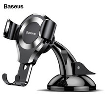 Baseus Gravity Car Phone Holder Suction Cup Car Holder Mobile Phone Hold... - $14.99