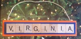 University Virginia Cavaliers Cavs Christmas Ornament Scrabble Rear View... - $8.90
