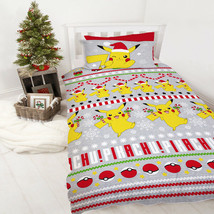 Official Licensed Product Pokemon Candy Single Duvet Set Xmas Reversible... - $27.34