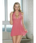 Escante Coral Halter Tie babydoll Size X-Large Style 35319 - $26.69