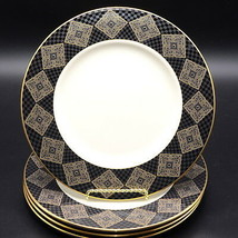 NEW w/ TAGS Lenox Urban Lights * 4 ACCENT / LUNCH LUNCHEON PLATES * Blac... - $126.99