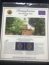 1999 Pennsylvania State Quarter P&D Mint Postal Commemorative Society - $5.79