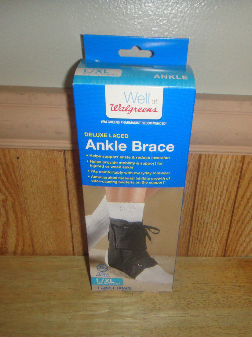 New Walgreens Deluxe Laced Ankle Brace L Xl And 50 Similar Items