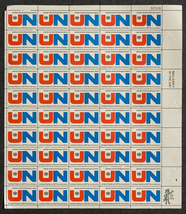 United Nations 25th Anniversary, Sheet of 6 cent stamps, 50 stamps - $7.50