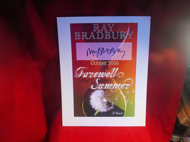 Farewell Summer display poster signed by Ray Bradbury - $73.50