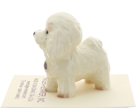 Hagen-Renaker Miniature Ceramic Dog Figurine Bichon Frise image 2