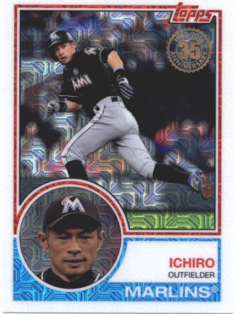Primary image for 2018 Topps 83 Chrome Silver Promo Series 1 #3 Ichiro NM-MT Marlins