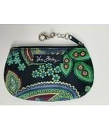 VERA BRADLEY Zip Top Photo ID/Change Coin Purse Floral Blue Green Purple - $8.99