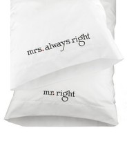 Hortense B. Hewitt Wedding Accessories Mr. and Mrs. Right Pillowcases, S... - $23.83