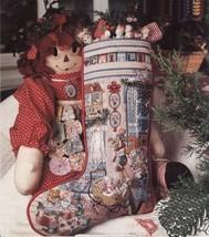 2 Cross Stitch Sugar N Spice & Angel Cuff Christmas Stockings Ornaments Pattern - $9.99