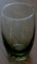 Nice Green Glass 8 Ounce Tumbler, Swirling Pattern, VERY GOOD COND - $8.90