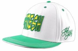 Flat Fitty Hashtag Fresh Wiz Khalifa Green White Snapback Baseball Hat Cap NWT image 2
