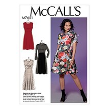 McCall Patterns M7651E50 Misses' Dresses with Yoke, Princess Seams, and ... - $2.93