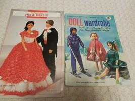 Lot of 2 Knit Crochet Pattern Booklets Doll Wardrobe His & Hers II Love ... - $4.50
