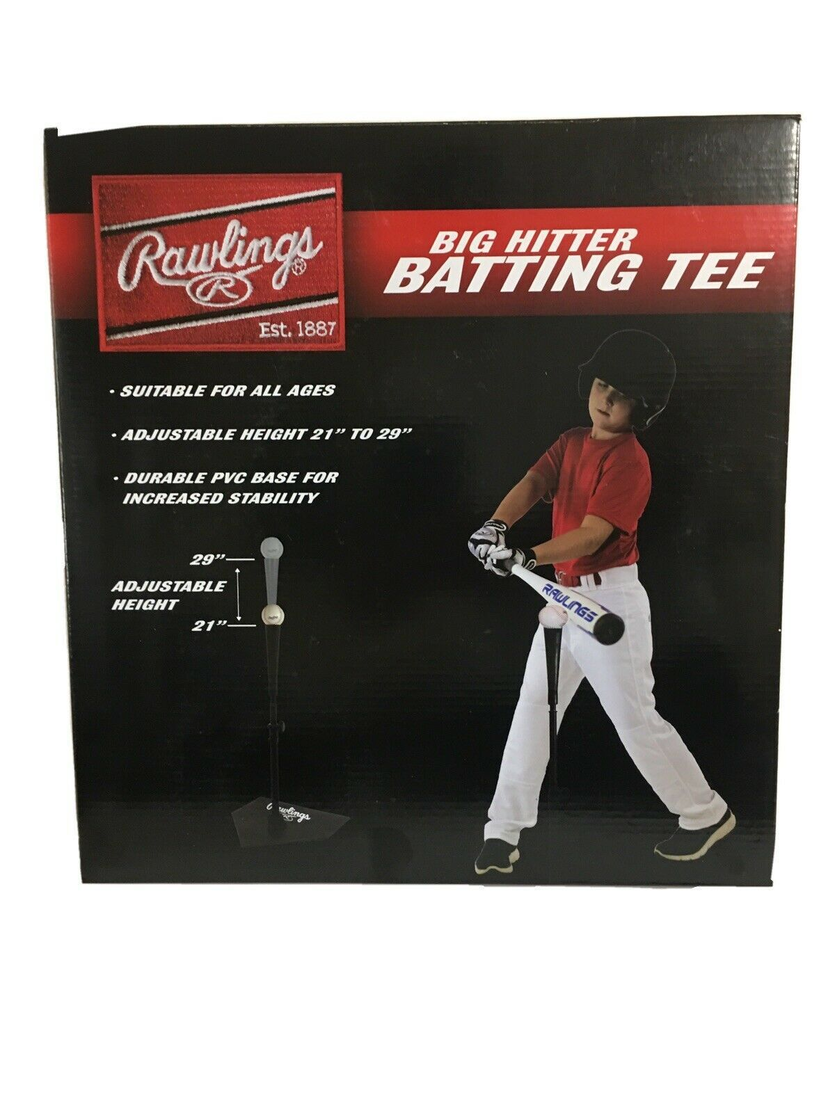 Primary image for NEW Rawlings Big Hitter Batting Tee Baseball Tee Ball Youth Kids