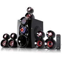 beFree Sound 5.1 Channel Surround Sound Bluetooth Speaker System- Red - $137.99 CAD