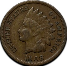 1908S Indian Head Cent Penny Coin Lot A 291