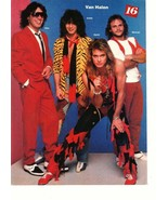 Van Halen Rick Springfield teen magazine pinup clipping red shoes Rockli... - $3.50