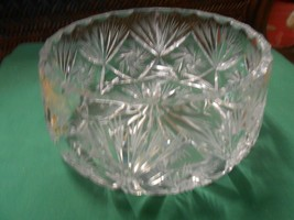 Magnificent Beautiful Heavy LEAD CRYSTAL BOWL - $44.14