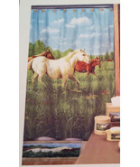 New Hautman Brothers Fabric Shower Curtain Country Multi-Color Prairie M... - $28.70