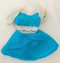 Vintage Barbie Francie Hair Happenin's #1122 Blue Tricot Dress 308-13 - $22.50