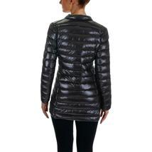 Aqua Damen Schwarz Puffer Verpackbar Fall / Wintermantel Jacke Größe S Neu W image 4