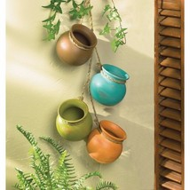 Dangling hanging Mini Pots Santa Fe Southwestern Style - $14.80