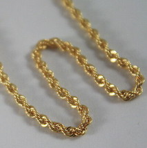 18K YELLOW GOLD CHAIN NECKLACE, BRAID ROPE 20 INCHES, 50 CM LONG, MADE I... - $178.17