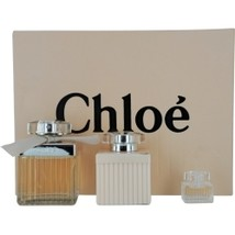 Chloe (New) 2.5 Oz EDP Spray + Body Lotion 3.4 Oz + Mini .17 Oz 3 Pcs Gift Set image 1