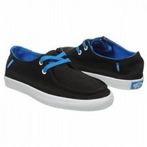 NWOB VANS AUTHENTIC RATA VULC BLACK BLUE SHOES KIDS 11.5 NEW KARATE SURF... - $28.01