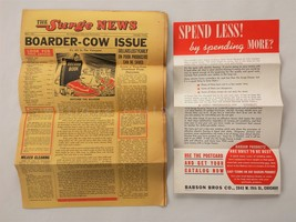 1941 vintage BABSON SURGE NEWS advertising 8pg NEWS w BROADSIDE boarder cow - $34.95