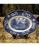 Vintage STAFFORDSHIRE Liberty Blue Governor's House Serving Platter - $29.95